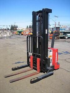 Raymond Dsx30 3000lb Walk Behind Electric Forklift 128 Lift Side Shift 24 Volt