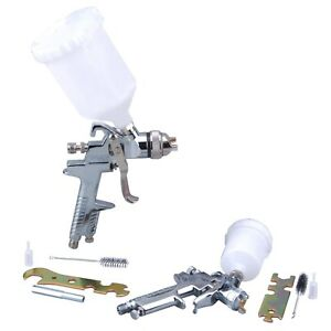 Steel Core 2 Pcs Hvlp Gravity Feed Air Spray Gun Kit W Stainless Steel Nozzles