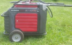 Honda Eu6500is Generator W Wheel Kit And Just Over 3k Hours Runs Perfect