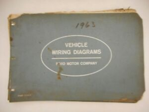 Oem Ford 1963 Wiring Diagram Book Galaxie Fairlane Comet Falcon Truck Lincoln
