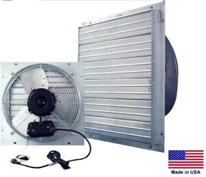 Exhaust Fan Industrial Direct Drive 12 115v 1 Ph 3 Speed 1100 Cfm
