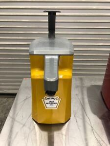 Asept Mustard Counter Top Condiment Dispenser Heinz 9123 Commercial Hand Pump