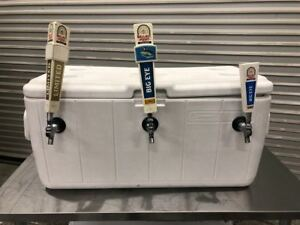 Triple Tap Draft Beer Ice Chest Keg Cooler Coleman 5299 9128 Tailgating Remote