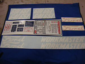 601 Ford Tractor Decal Set 601 641 651 661 Workmaster Gas Models 1958 1964