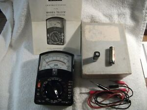 Vintage Olson Electronics Multitester Te 197p Ac Dc Volt Ohm Meter M 54 Battery