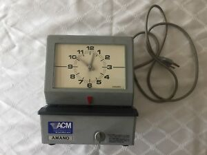 Onlyh Vintage Amano Electronic Time Recorder Model 3633 With Punch