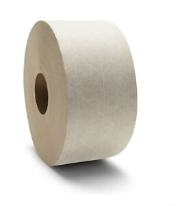Gummed Kraft White Paper Tape 3 X 450 Water Activated Economy Grade 50 Rolls