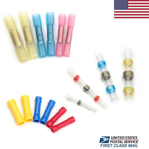 Solder Seal Heat Shrink Butt Wire Connector Crimp Insulated Assorted Terminals