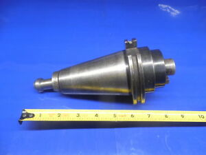 Parlec Cat 50 Tool Holder 1 Pilot With 3 8 Keys Missing Screw Cnc End Mill