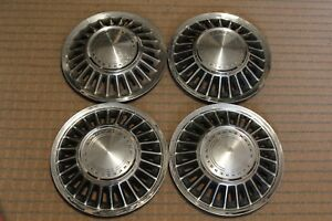 1967 1968 Ford Thunderbird Hubcaps Wheel Covers Set Of 4 Metal Vintage 15