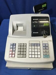 Sharp Xe a21s Commercial Electronic Cash Register W 4 Pos Keys No Drawer Key