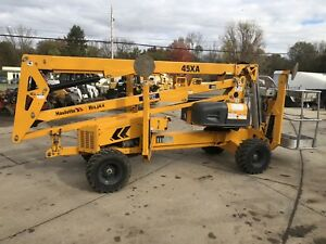 Used 2015 Haulotte 45xa Biljax Articulating Drivable Boom Lift