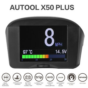 Autool X50 Plus Car Obd Hud Head Up Display Projector Overspeed Warning System