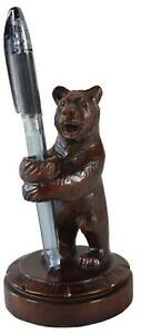 Pen And Pencil Holder Mountain Rustic Standing Bear Resin New Hand cast
