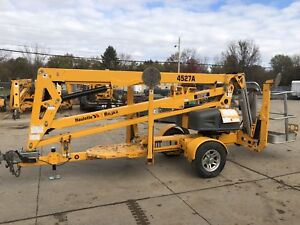 Used 2015 Haulotte 4527a Biljax Towable Articulating Boom Lift