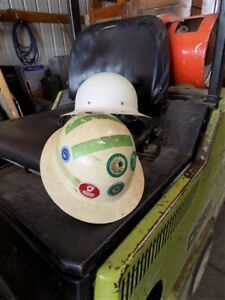 2 Pith Helmets Safety Hard Hat Vintage Construction Gear Protective Headgear