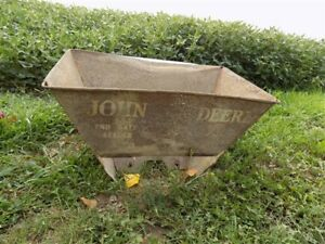 John Deere End Gate Seeder Hopper Implement Tractor Seat Sign Vintage Planter