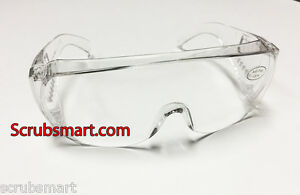 12 Pack Lot 12 412 Economical Clear Safety Protection Lab Glasses Us Seller
