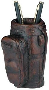 Pencil Holder Golf Traditional Bag Small Resin New Hand painted Hand cast