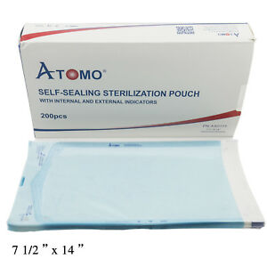 Self sealing Sterilization Pouches Assorted Size 200pcs box