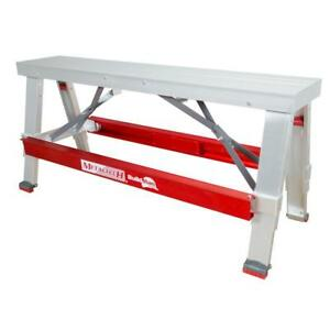 Aluminum Drywall Workbench Work Bench Table Support Adjustable Height 18 X 30 In