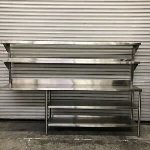 102 1 2 Stainless Steel Table Over Shelf Rack System 9136 Win Holt Nsf Prep