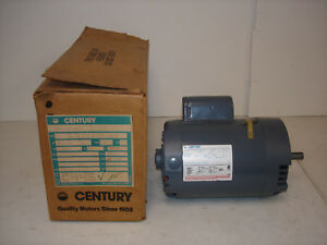 Century Ac Motor C445 8 113655 03 1hp 1725rpm 1ph 230 115v 6 5 13 0a