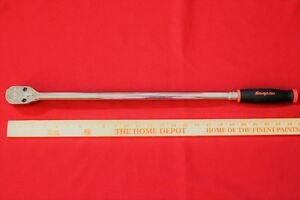 Snap On Shll80a Red 1 2 Drive Soft Grip Extra Long Handle Ratchet New