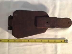 Antique Iron Fishing Sinker lead Mold 4 cavity weight mold 8-6-4-3 oz ?