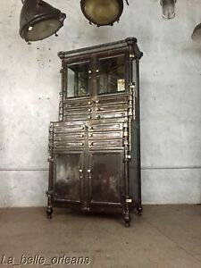 Antique Industrial Steel Bown Aseptic Dental Apothecary Cabinet Best In Show
