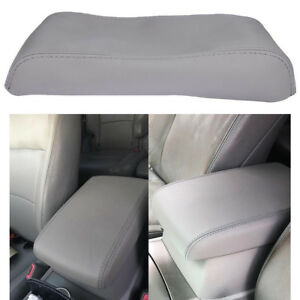 Center Console Leather Lid Armrest Cover Fits Toyota Highlander 2008 13 Gray Hot