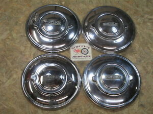 1960 s Jaguar Mk Series poverty Dog Dish Hubcaps Set Of 4