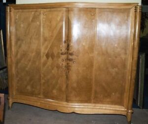 Beautiful Large Impressive Vintage Inlay Armoire Wardrobe