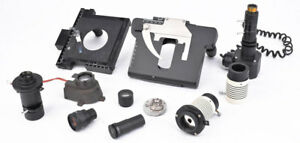 Lot 11 Mix Lab Microscope Parts Accessories Eyepiece Filter Lamp House Xy Stage