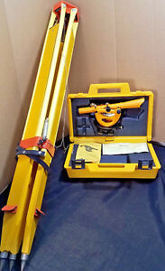 Berger Instruments 143 Transit Survey Measuring Scope With Tripod And Case