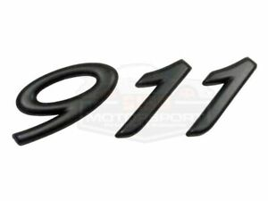 Genuine Porsche 911 964 993 911 Rear Decklid Emblem In Black 993 559 237 01