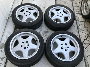 Oem Mercedes Factory Amg Made In Germany Wheels Complete Set 17