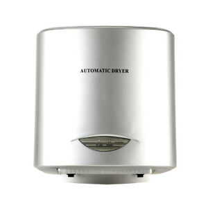 Silver Electric Commercial Auto Automatic Warm Or Cold Eco Air Hand Dryer Drier