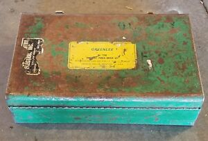 Vintage Greenlee No 7306 Knockout Punch Set 1 2 To 2 Conduit In Metal Case