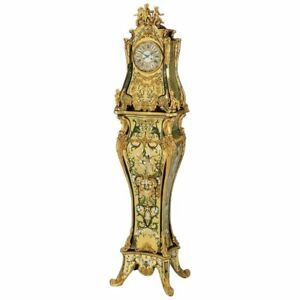 A Rare And Important French Louis Xiv Gilt Bronze Mounted Boulle Marquetry Clock