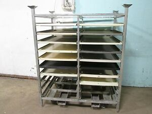 cumberland H d Commercial Bakery Pans poly Trays Double Wide Steel Rack