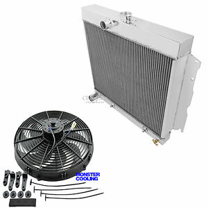 1963 1964 Plymouth Savoy 4 Row Aluminum Champion Racing Radiator