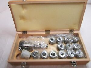 Bison 7 171 4108 R8 To Er40 Collet Chuck Set 17pcs Self releasing System