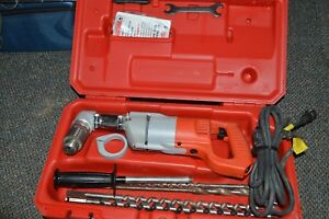 Right Angle Drill Milwaukee Model 3107 6 Orig Case Extra Bits Free Ship