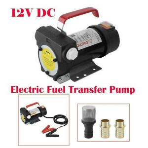 Portable Oil Diesel Kerosene Fuel Transfer Pump 12 Volt Dc 175w 45l min Red New
