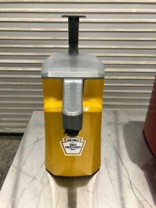 Asept Mustard Counter Top Condiment Dispenser Heinz 9165 Commercial Hand Pump