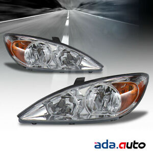 For 2002 2003 2004 Toyota Camry Le xle se factory Style Chrome Headlights Set