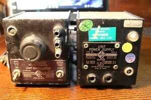 General Radio 1203 b Power Unit And 1214 a Unit Oscillator