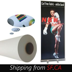Eco solvent Curl Free Fabric For Retractable Roll Up Banner Stand 63 x82ft