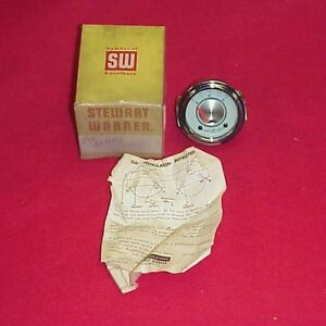 Nos Vintage Twin Blue Stewart Warner Oil Pressure Gauge Gasser Hot Rod 6 Volt